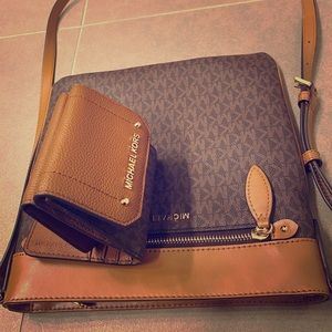 Michael Kors crossbody and wallet - NWT